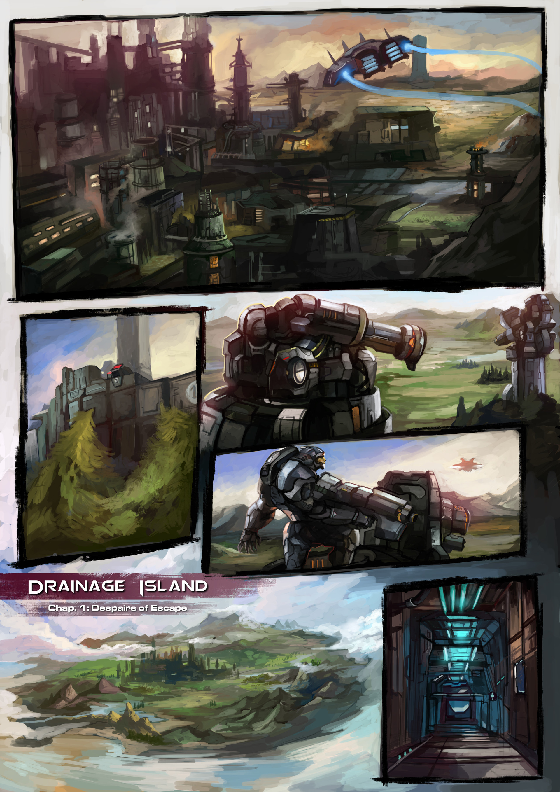 Artstation Husa Toledo Drainage Island Comics Concept