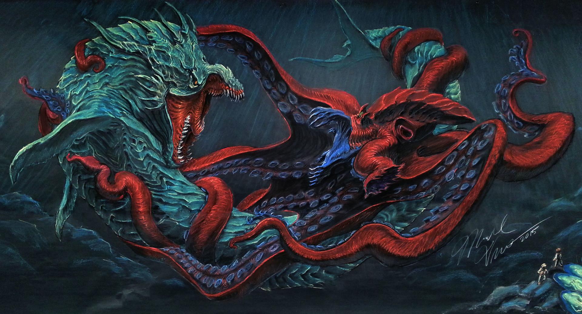 ArtStation - Leviathan v Kraken, Michael Vincent Eppinette