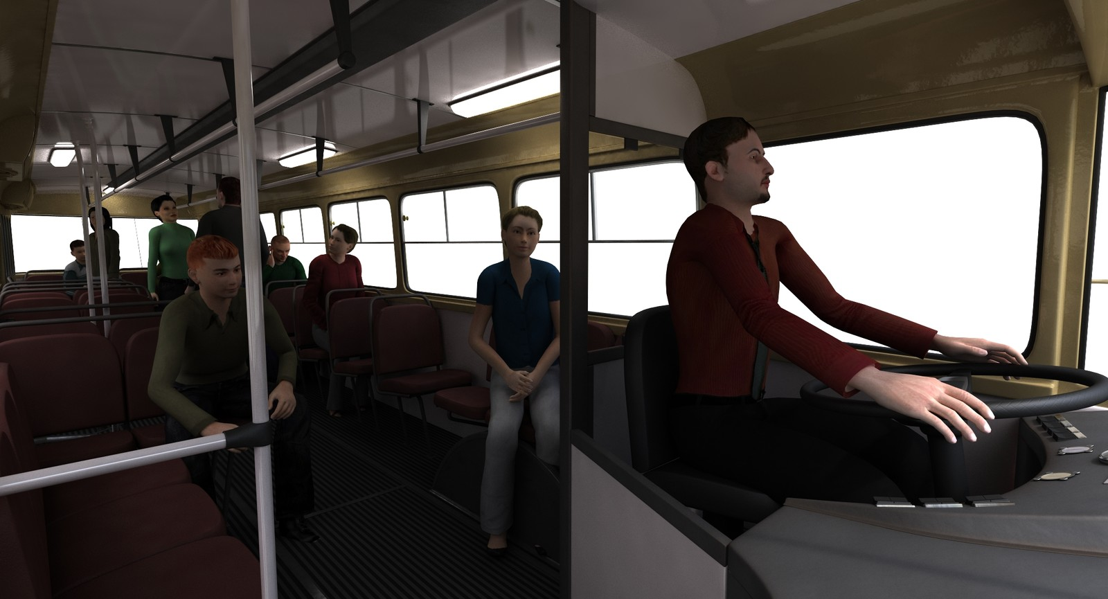Passengers made with Autodesk Populate