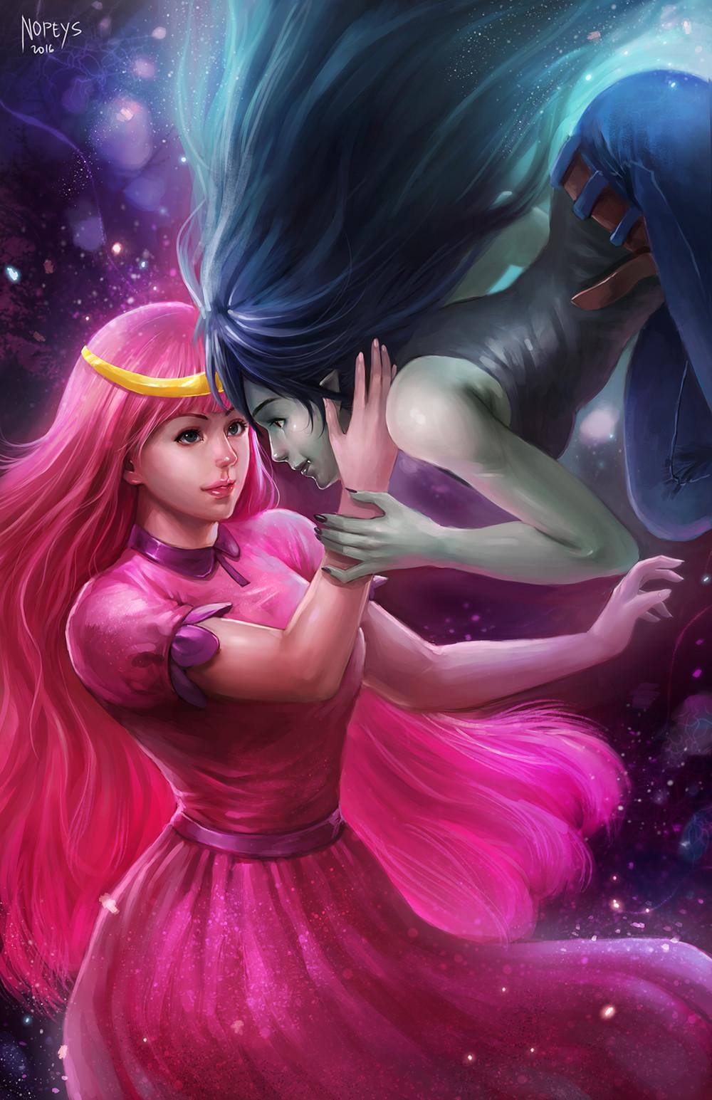 Princess Bubblegum and Marceline