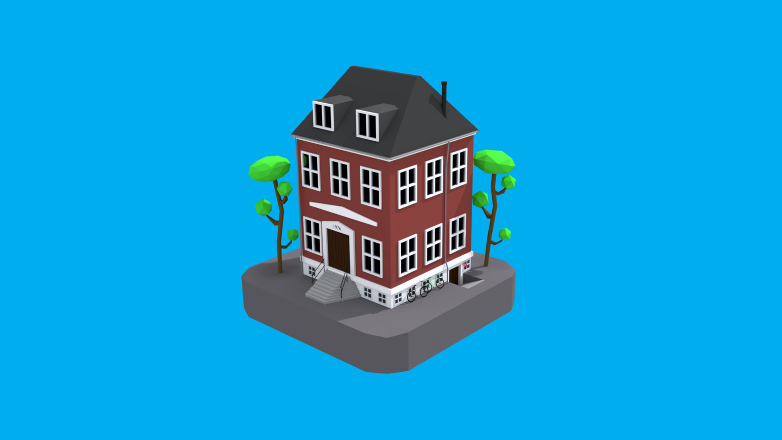 Lowpoly Buildings 2016