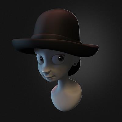Glenn melenhorst girl in the hat2