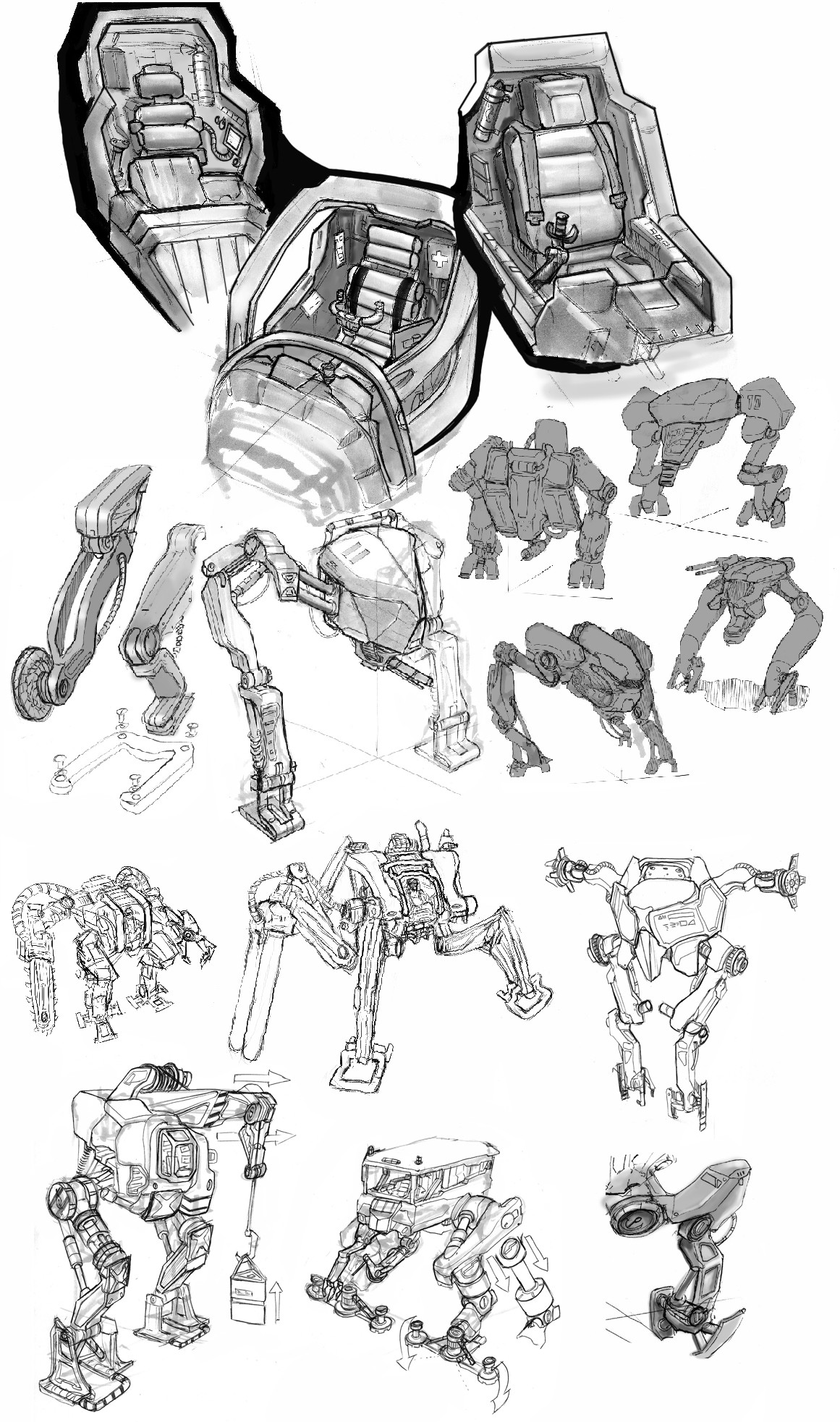 Danny kundzinsh mech sketches w markers