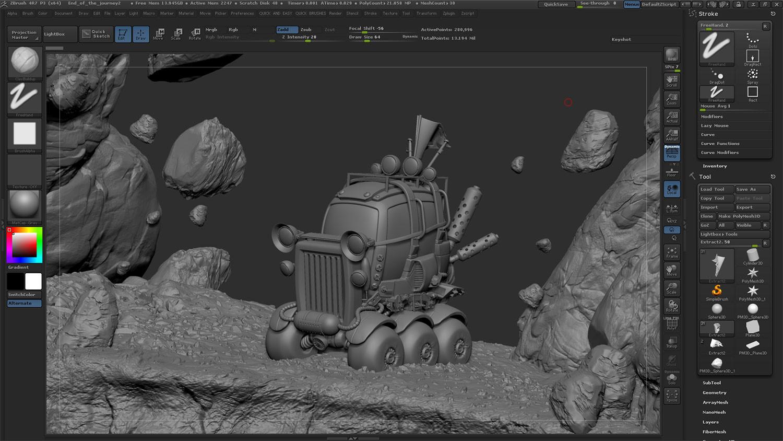 ZBrush model before render