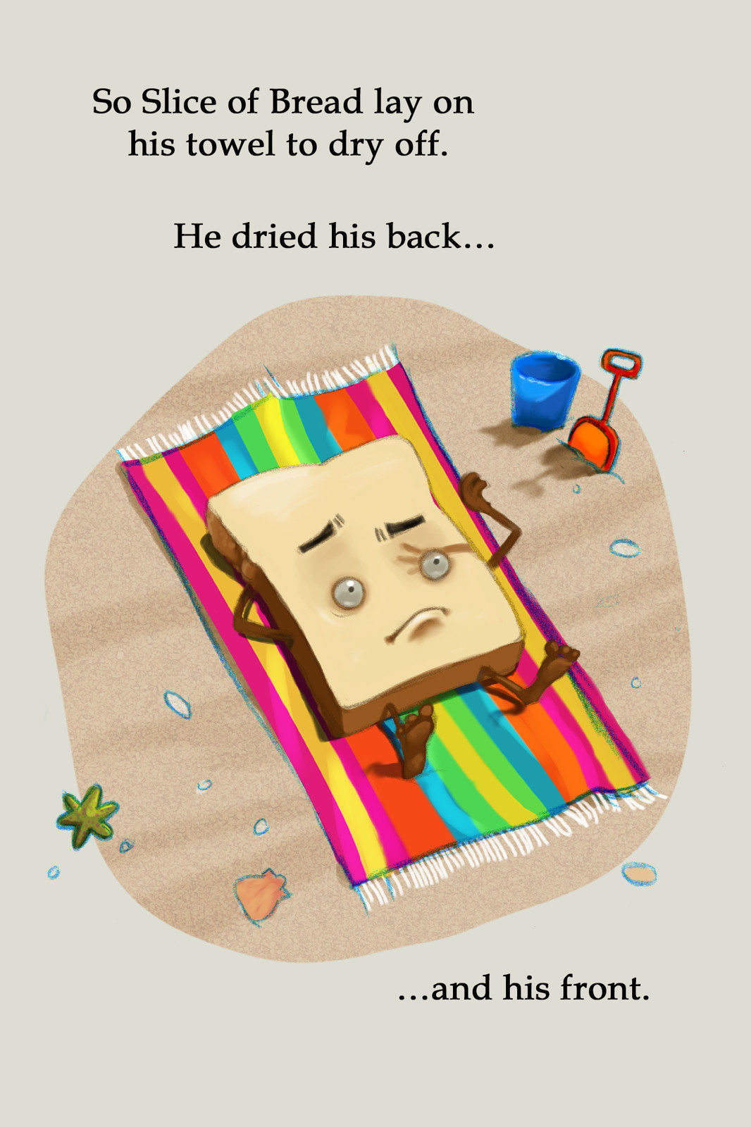 Slice of Bread goes to the Beach. Flip.