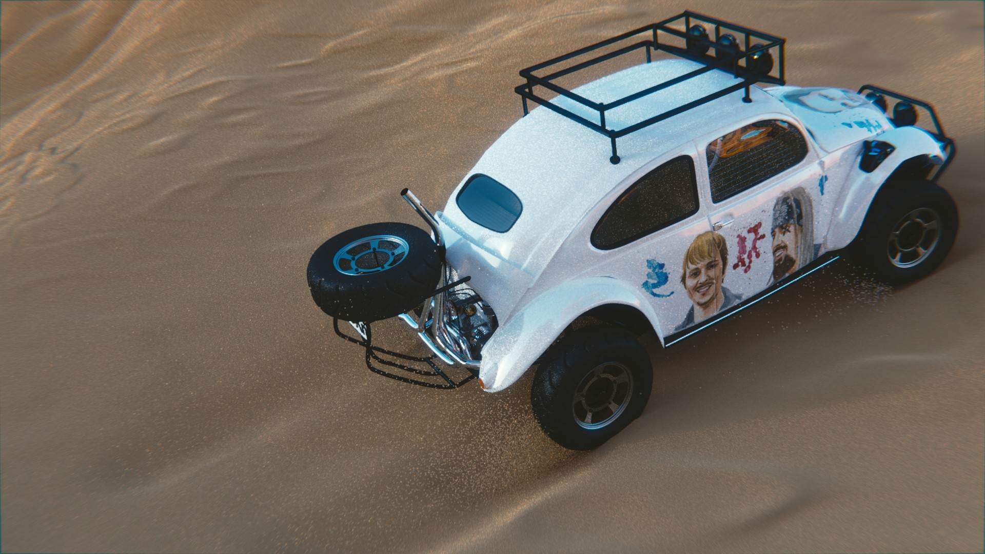 Sussi johansson baja bug with sand3