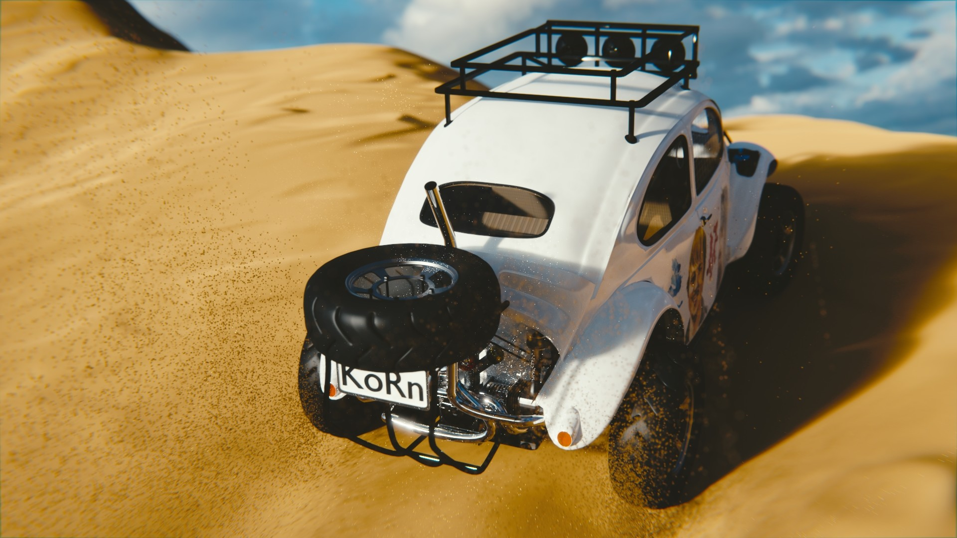 Sussi johansson baja bug with sand7