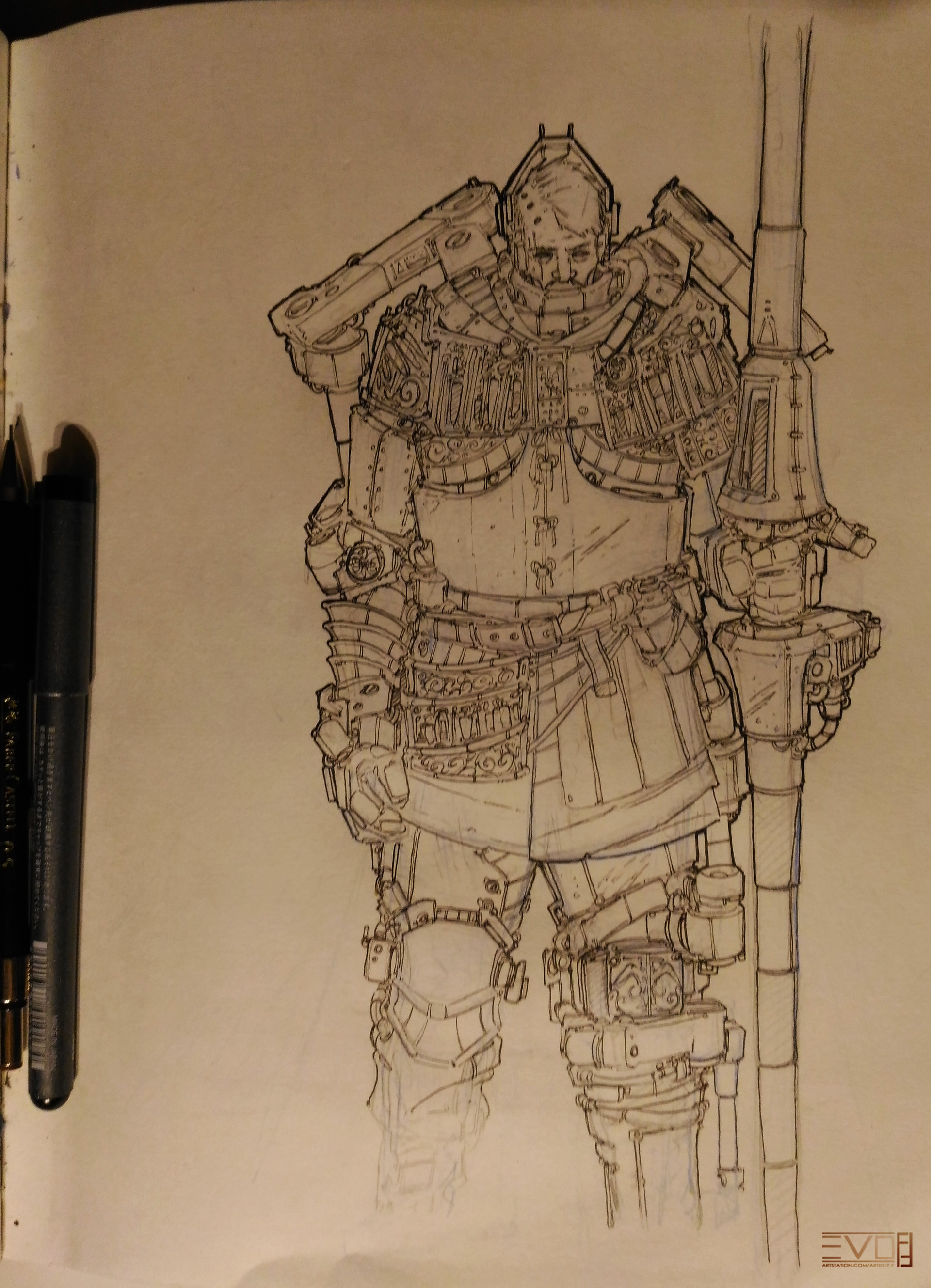 F f knight sketch 01