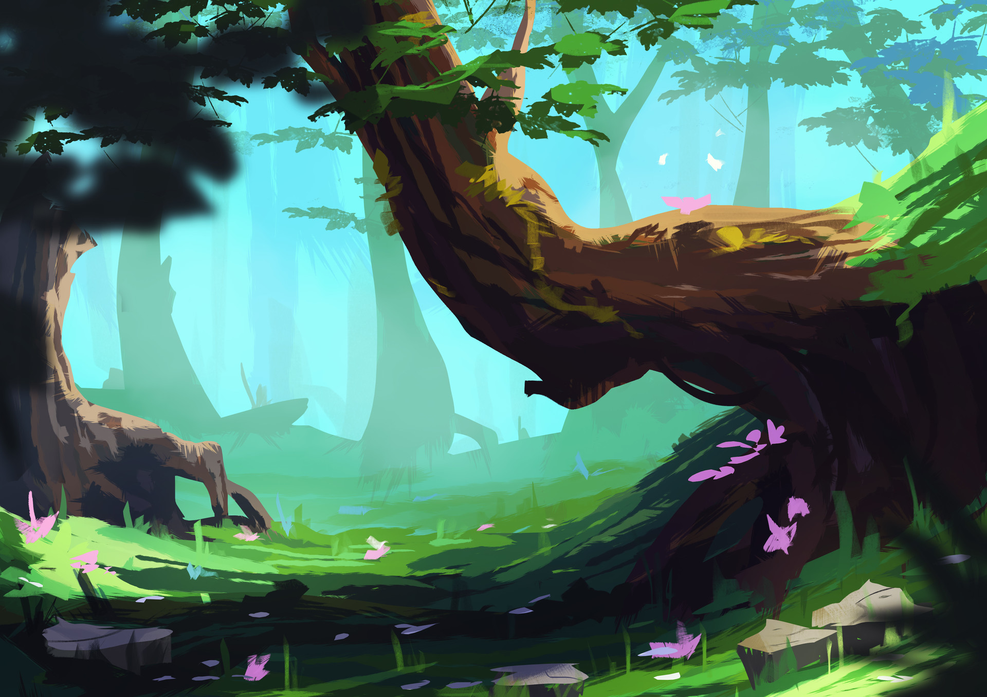 ArtStation - Forest Concept Art, Elise Mathez
