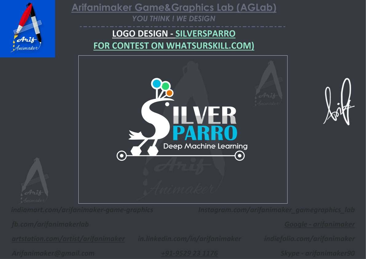 Mohammad Arif Logo Design Silversparro With 3d Mockup Aglab