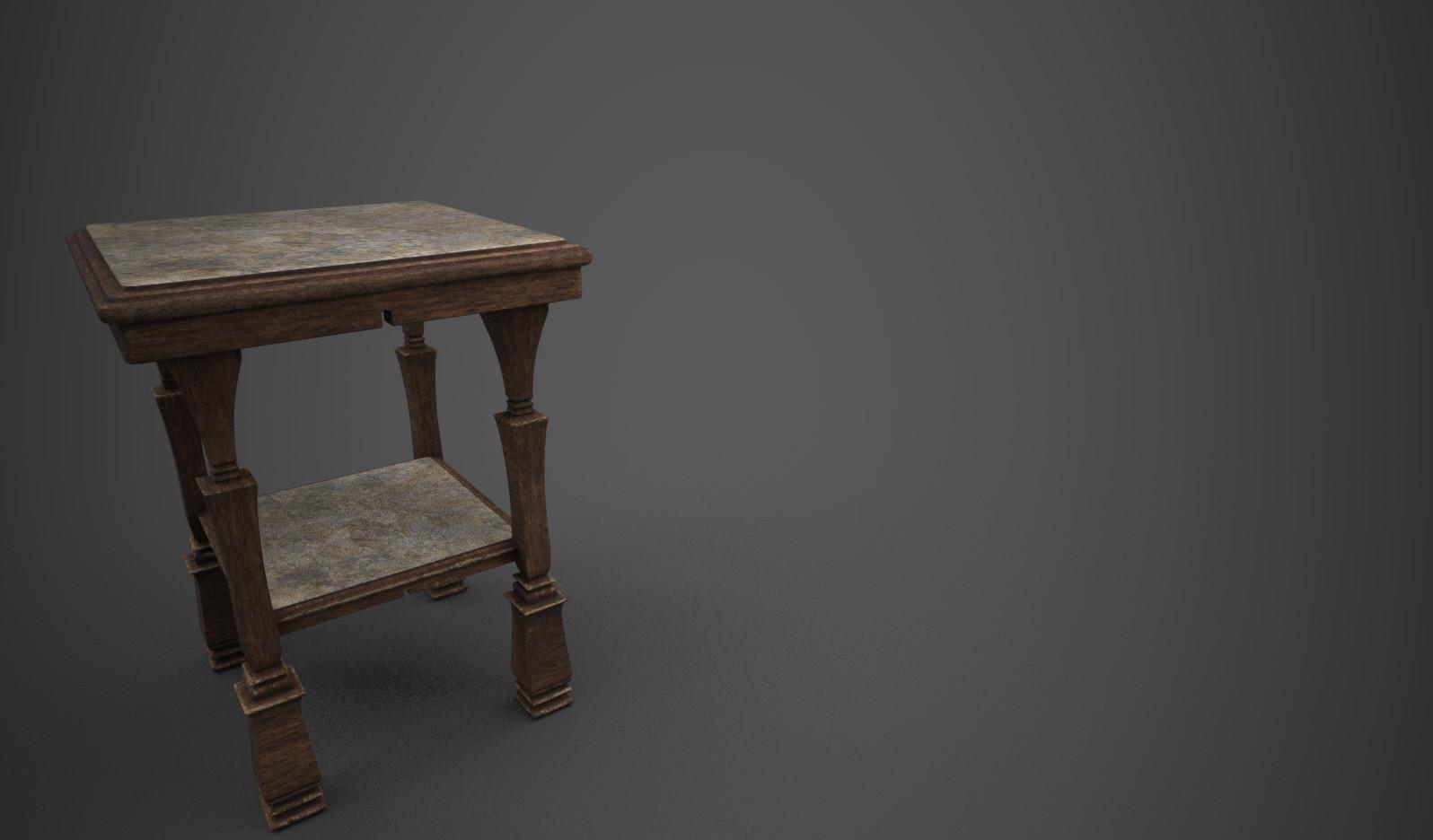 Desk side table