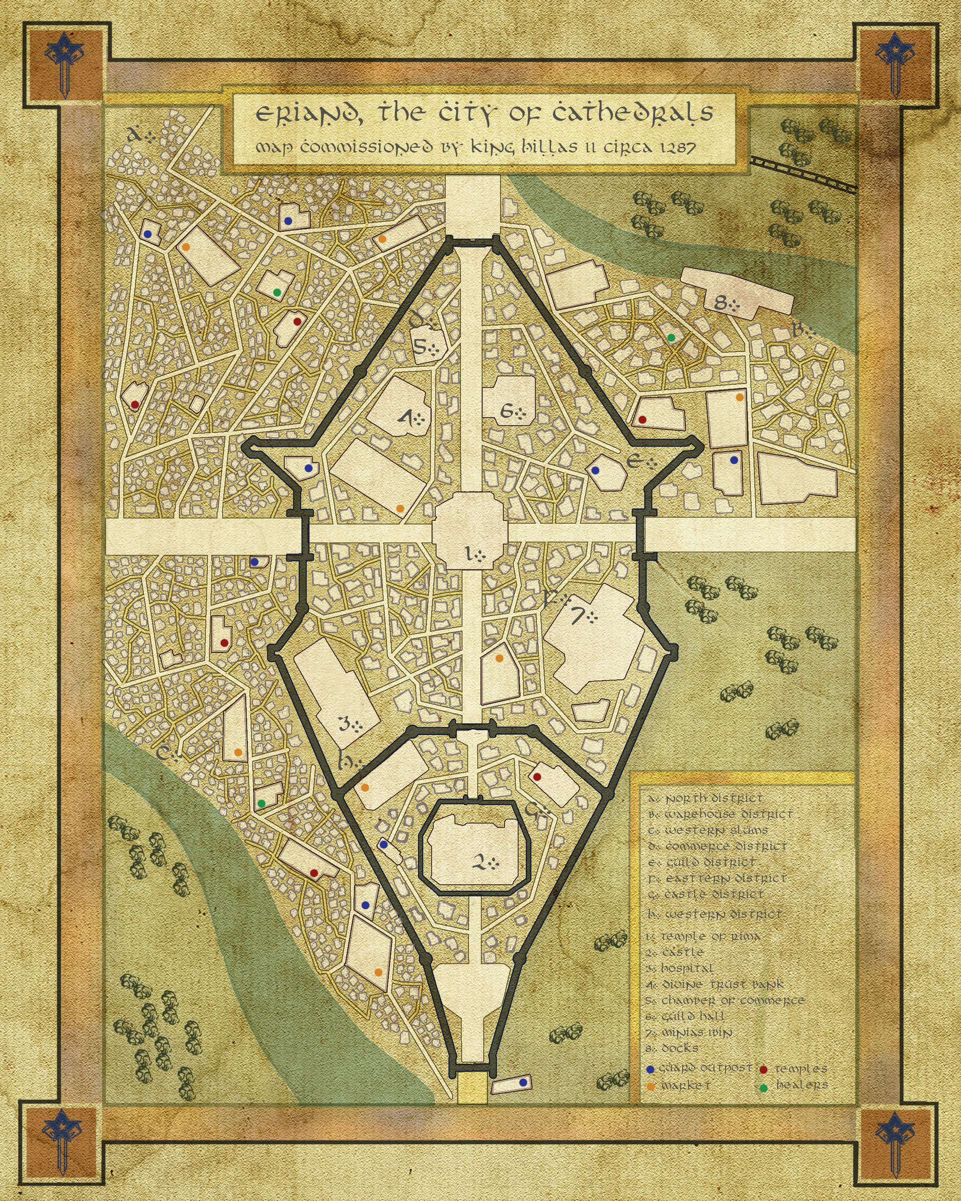 Final map for city of Eriand