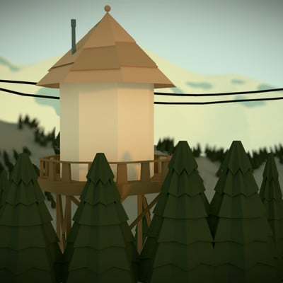 Kyle andrews gravity falls low poly render
