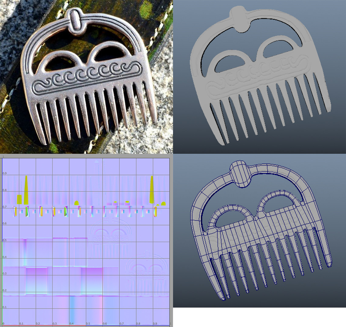 'Comb' with UV and detail