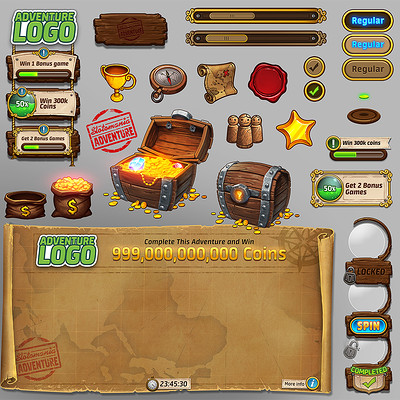 Playtika's Slotomania UI elements and assets