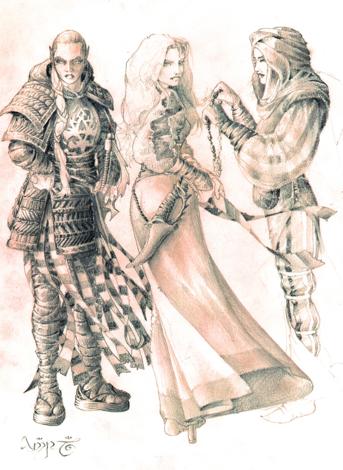 Elven maidens of different cultures.