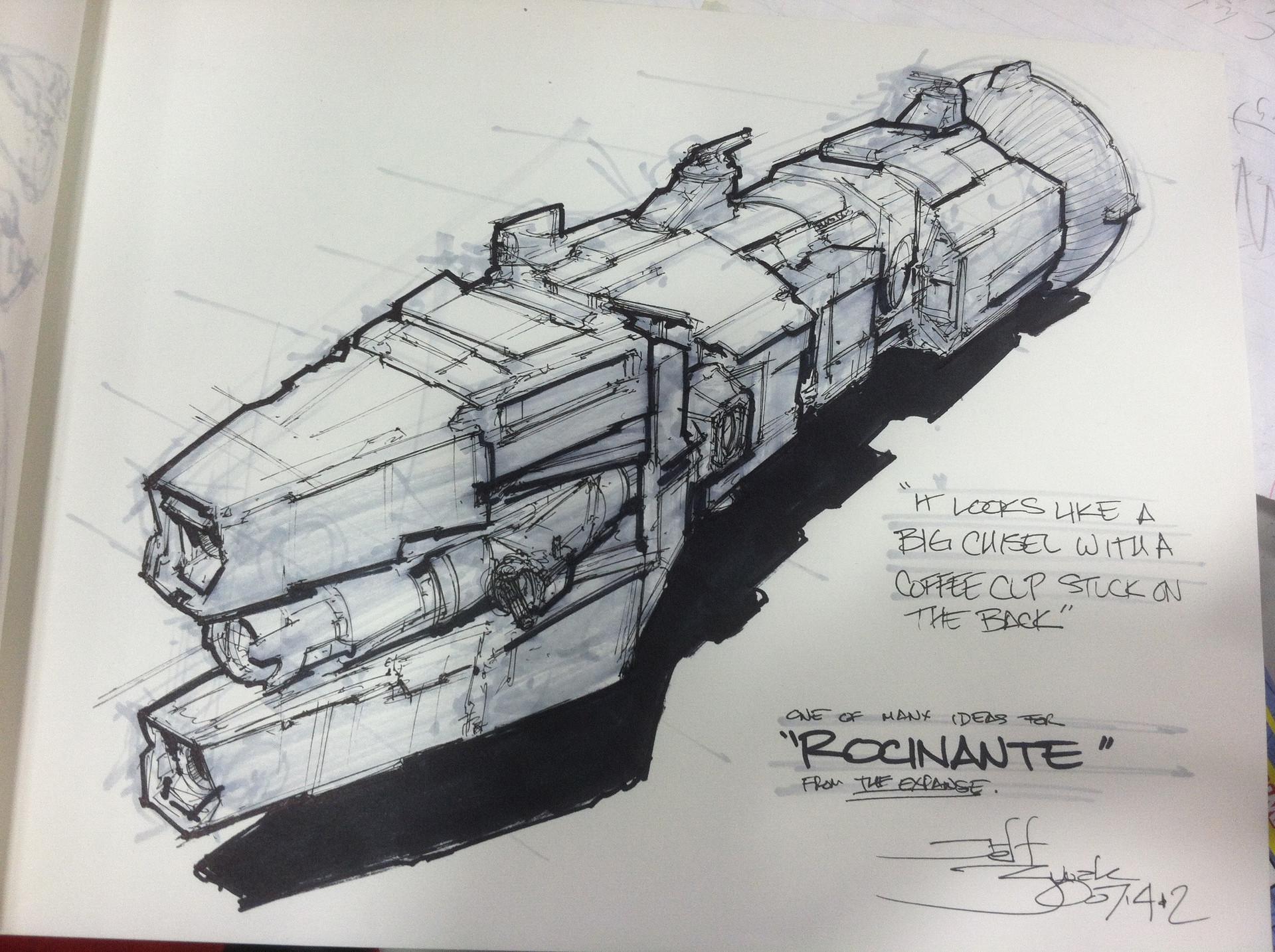 Jeff zugale rocinante sketch 201207