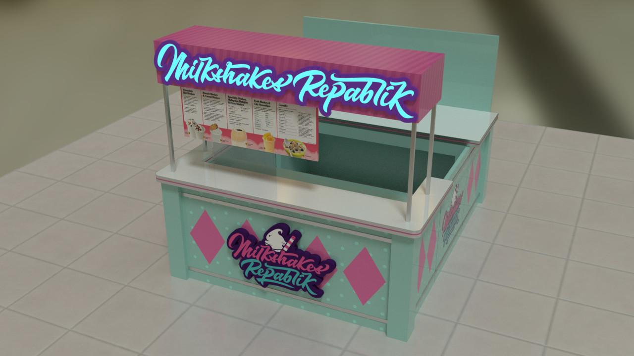 Ray Casimiro - Milkshakes Repablik Food Kiosk Design