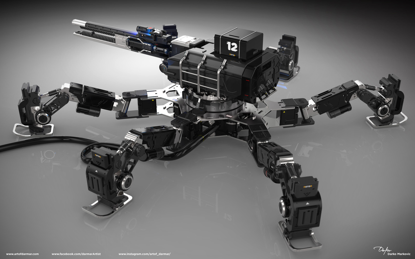 Wal-C Mech design by Darko Markovic darmar for the upcoming book.