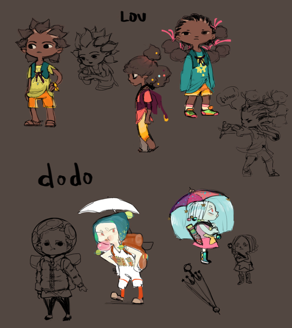 early chara concepts