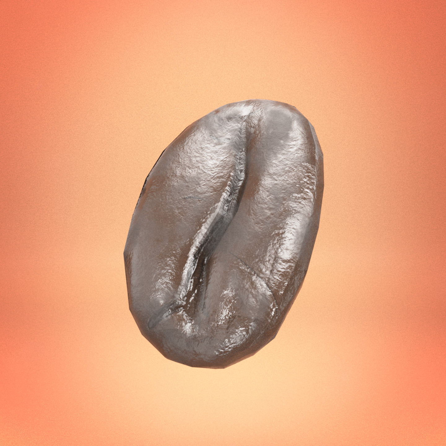 Quickly sculpted and retopologyzed coffeebean (~15min) with procedural shader.  194 Faces
