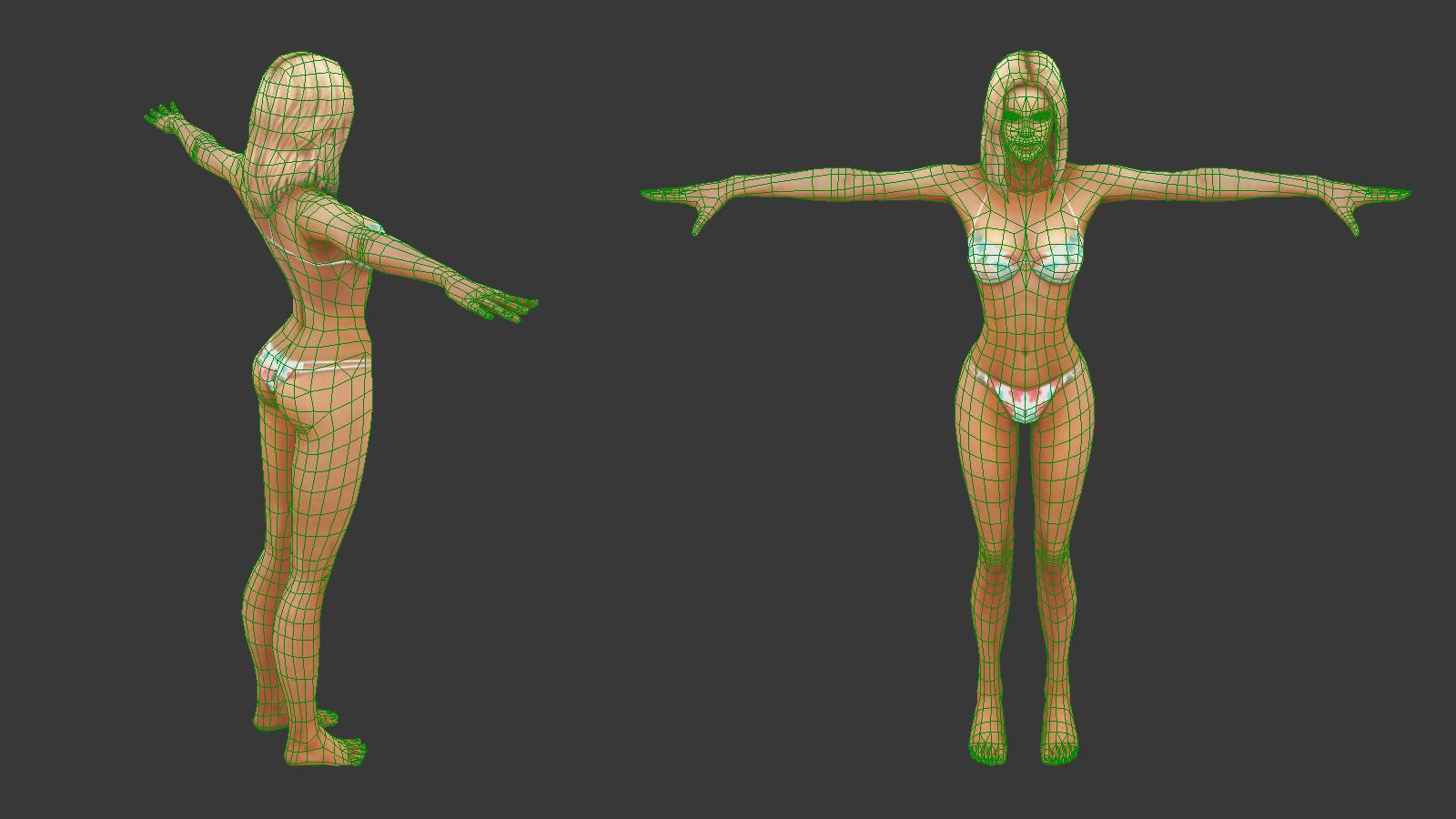 Oziel leal salinas tanned bikini woman 3