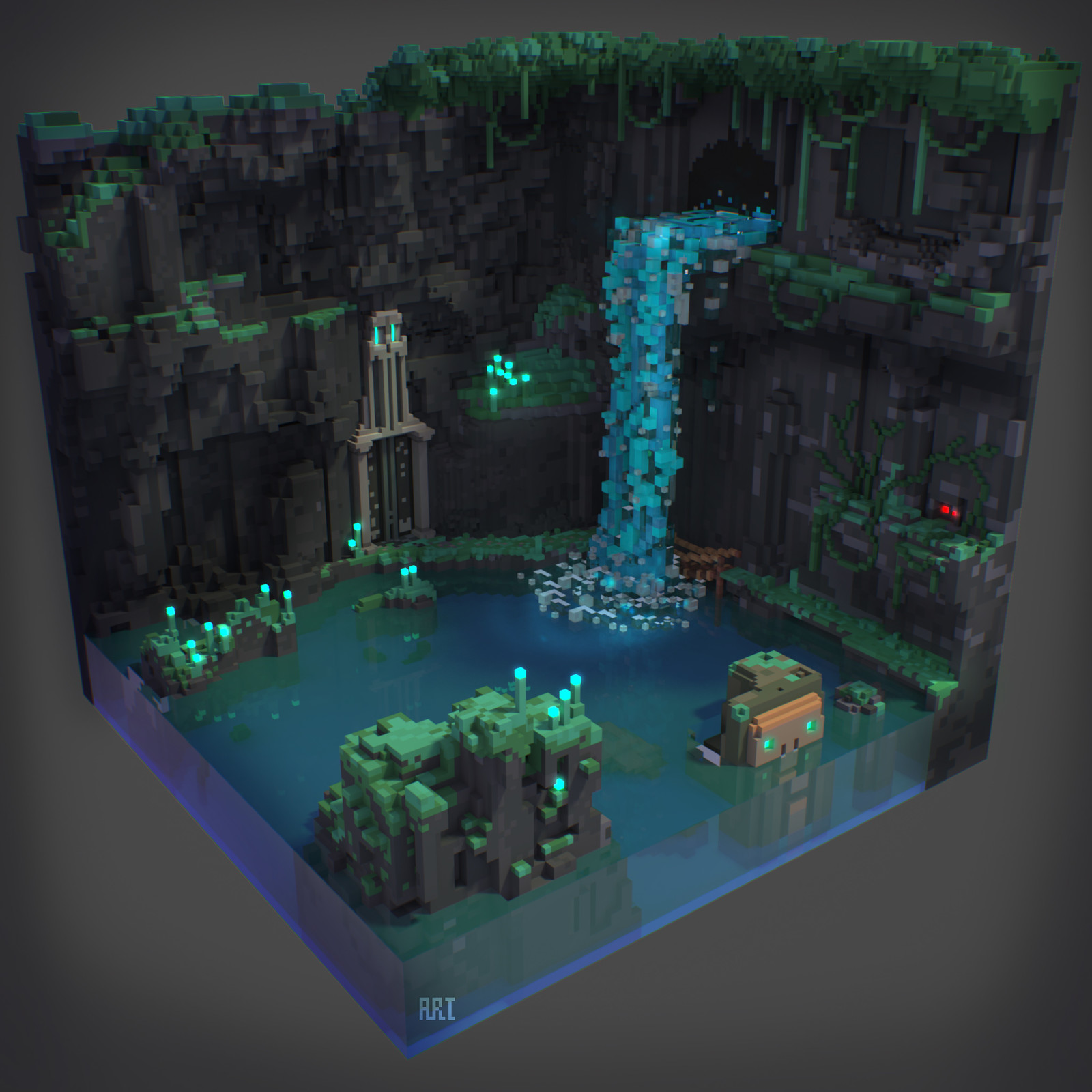 Voxel Art Sketches