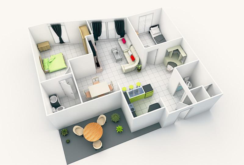 Abdou Cher 3d Floor Plan