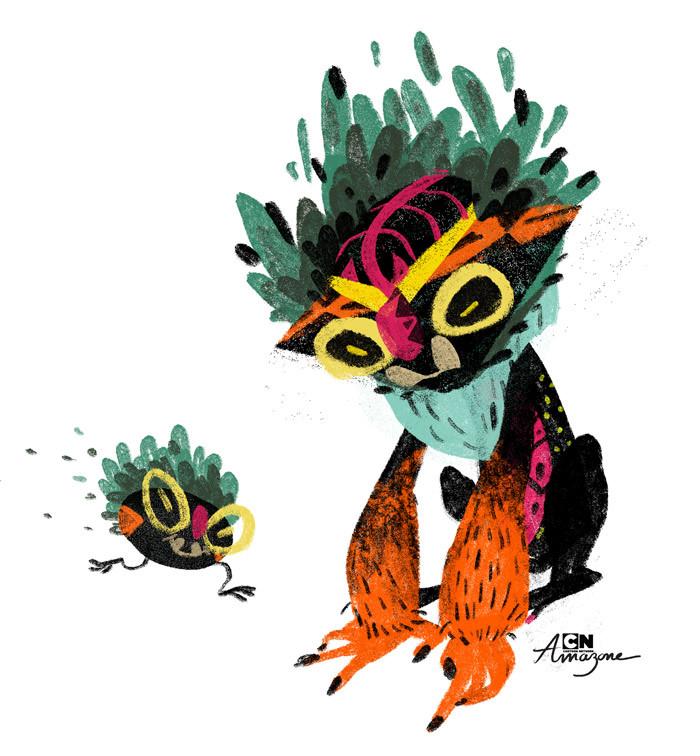 Anais marmonier anais marmonier concept art cartoon network amazone tropical island tiki spirit