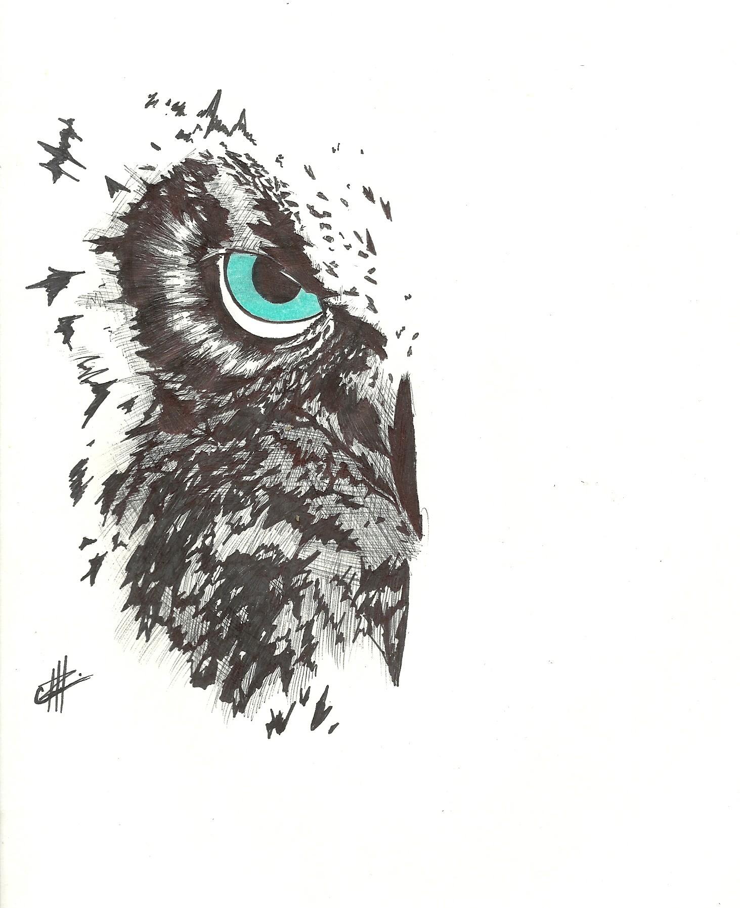 ArtStation - Owl Tattoo Idea, Christian Yégües