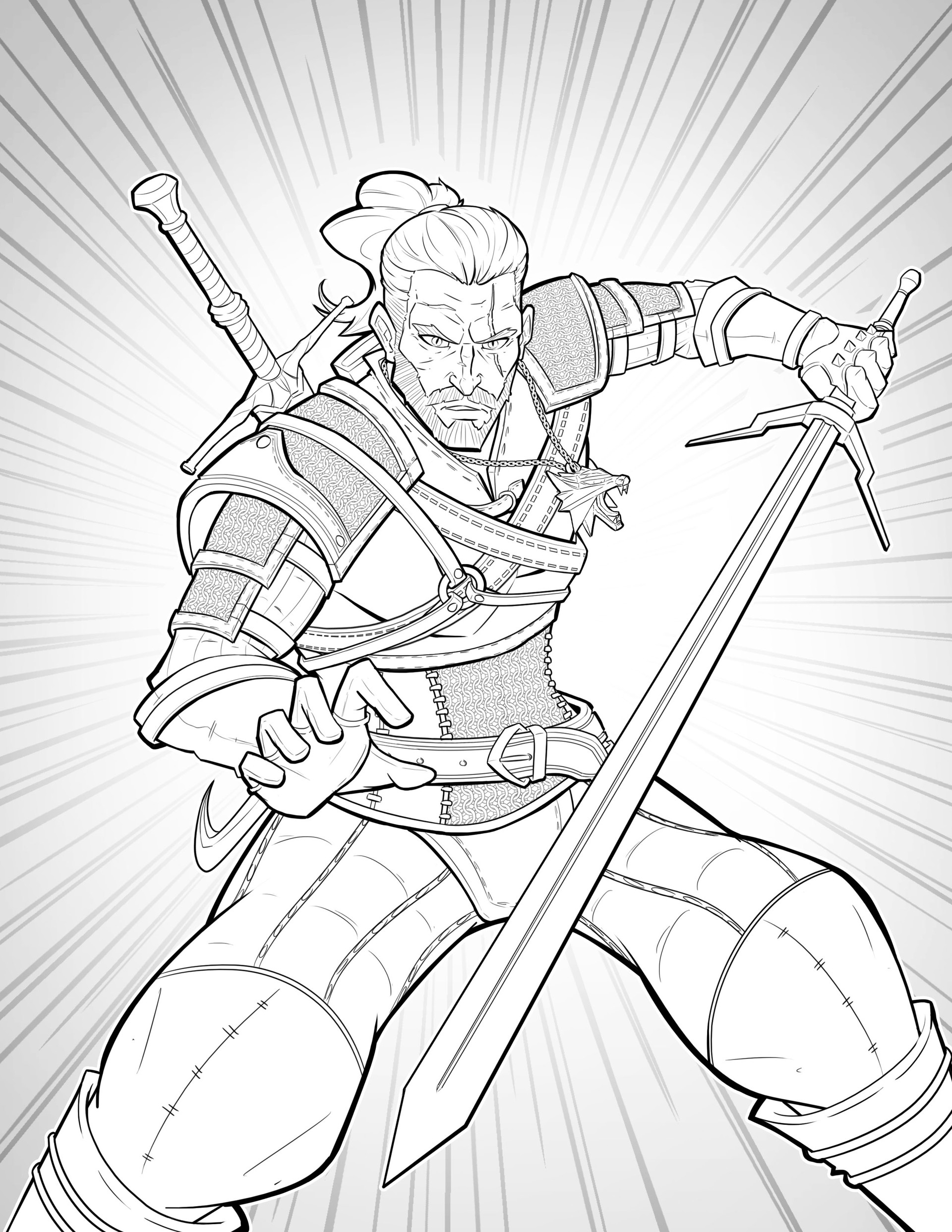 The Witcher Coloring Pages