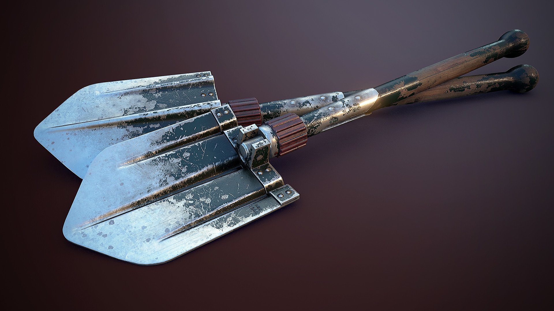 ArtStation - PBR - German WW2 Entrenching Tool (Trench