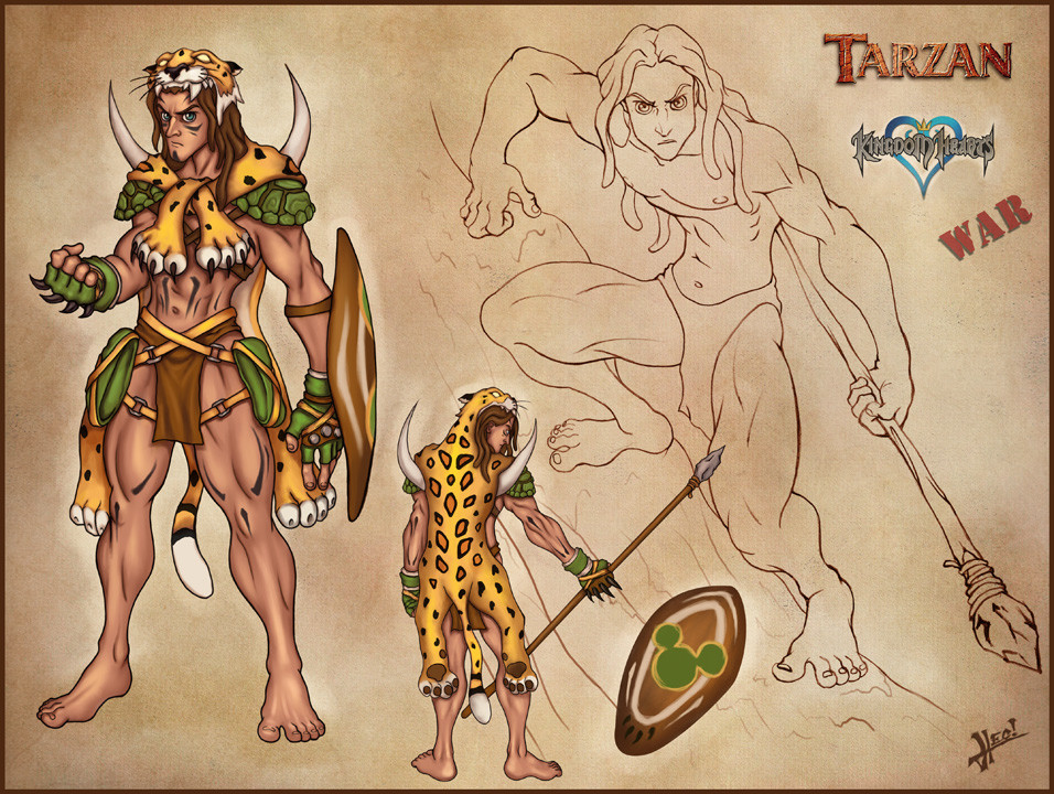 Older 2D fanart of Tarzan done for a forum challenge.