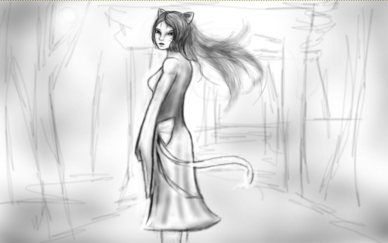 Akai shoku drawing3