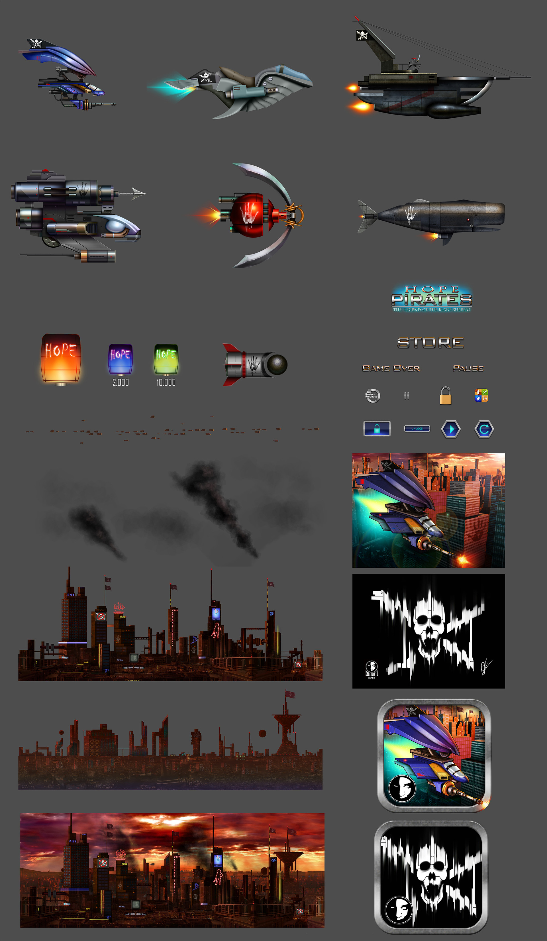 Oziel leal salinas hope pirates 2d assets