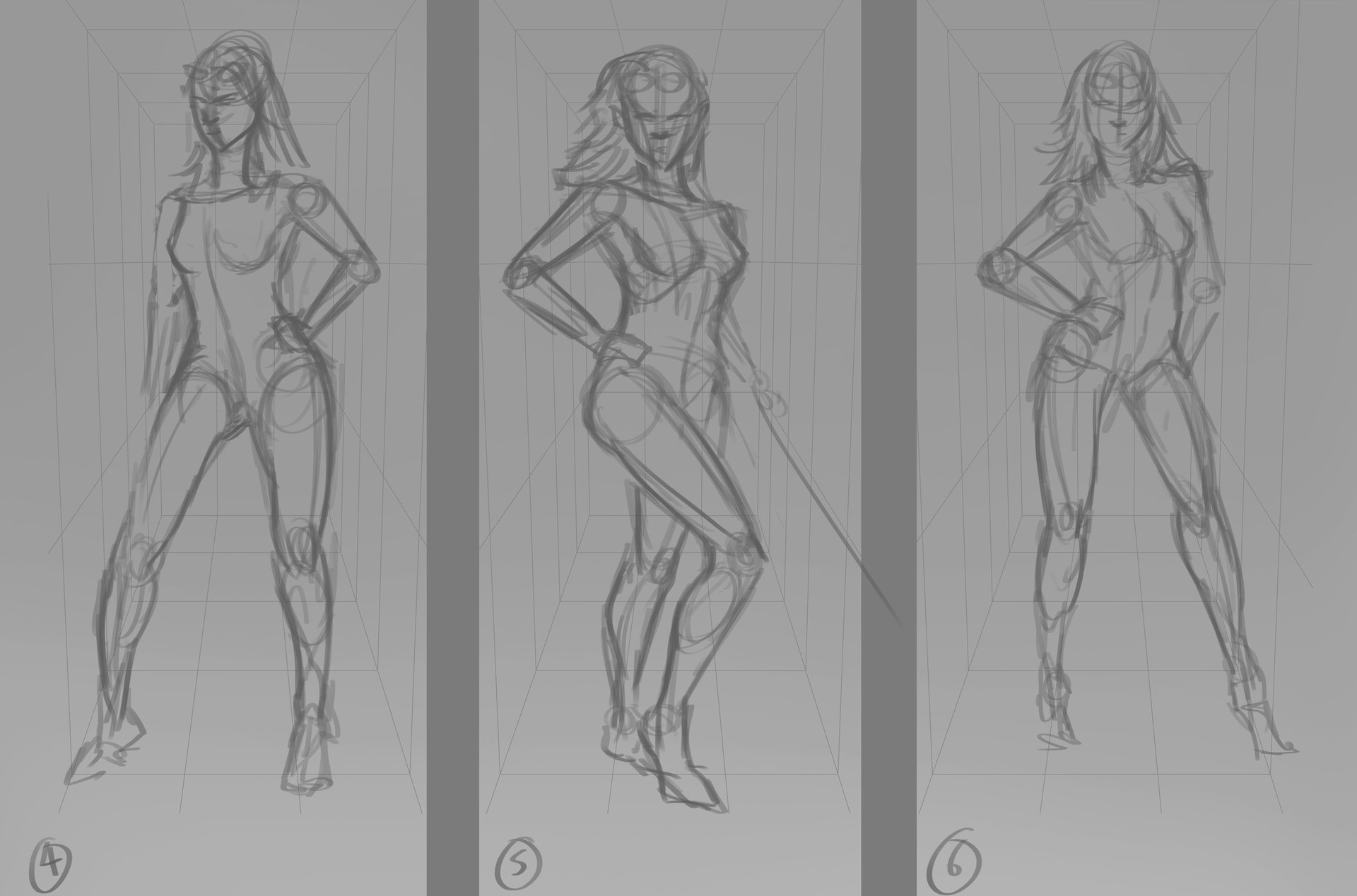 Robert crescenzio eolanna moonhair pose concepts sheet 2