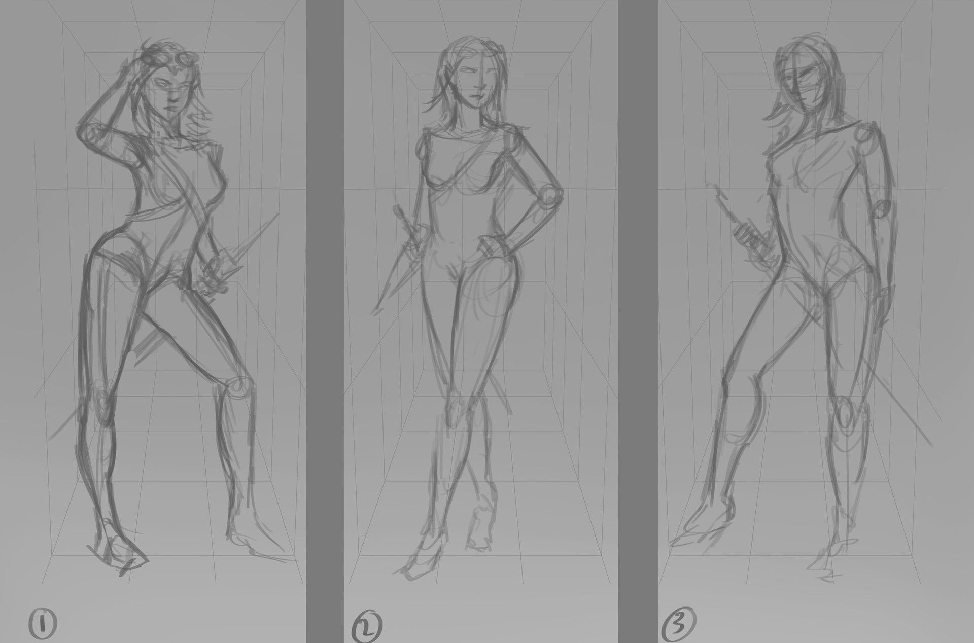 Robert crescenzio eolanna moonhair pose concepts sheet 1