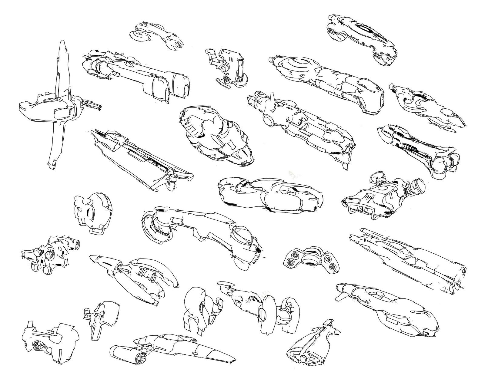 spaceship doodles