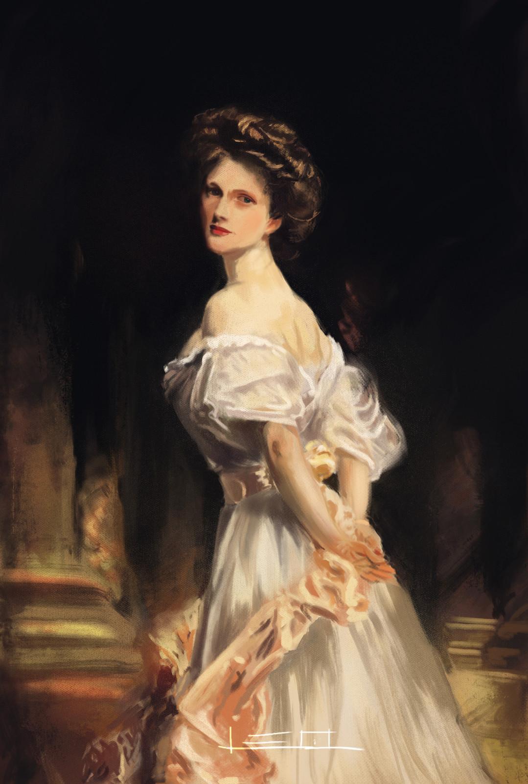 Master Study of Portrait of Nancy Astor