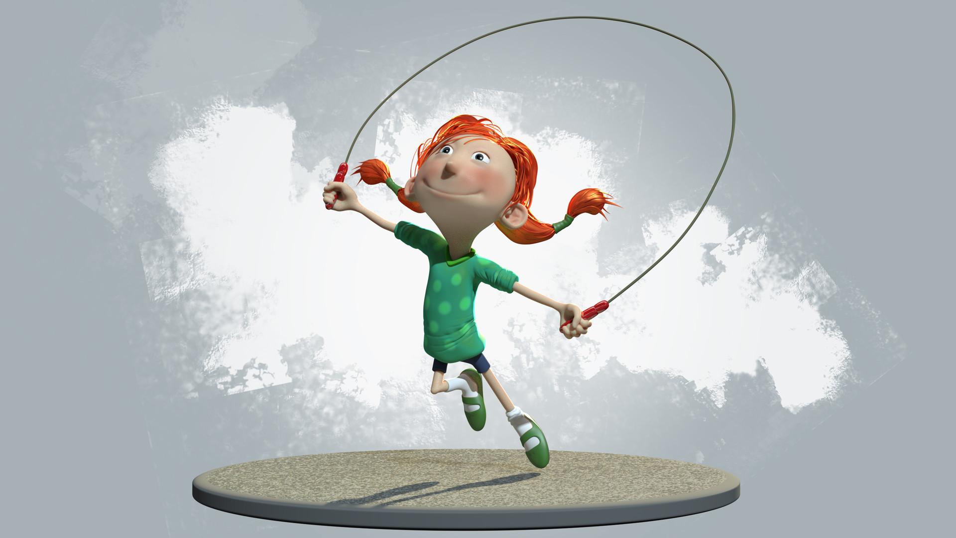 Skipping girl