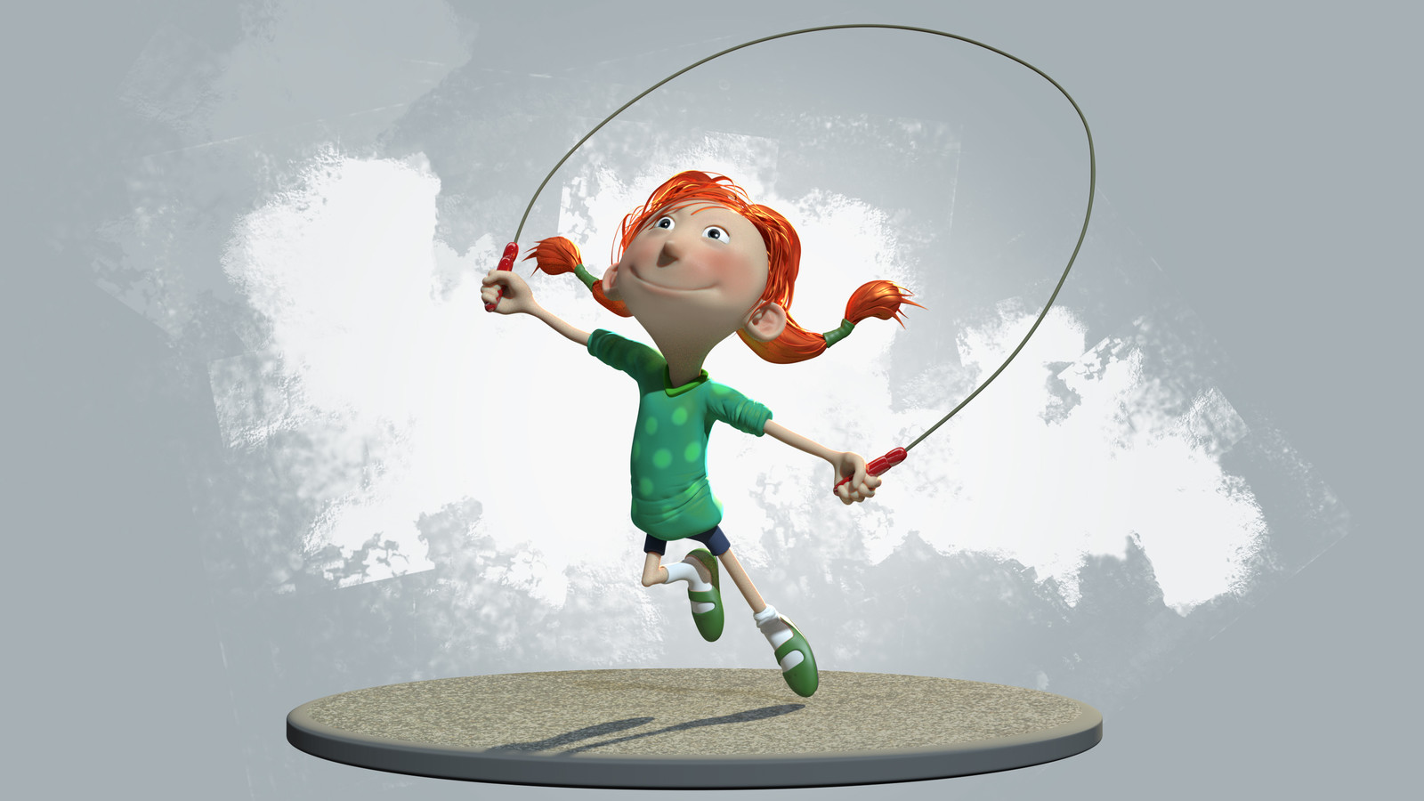 Skipping girl