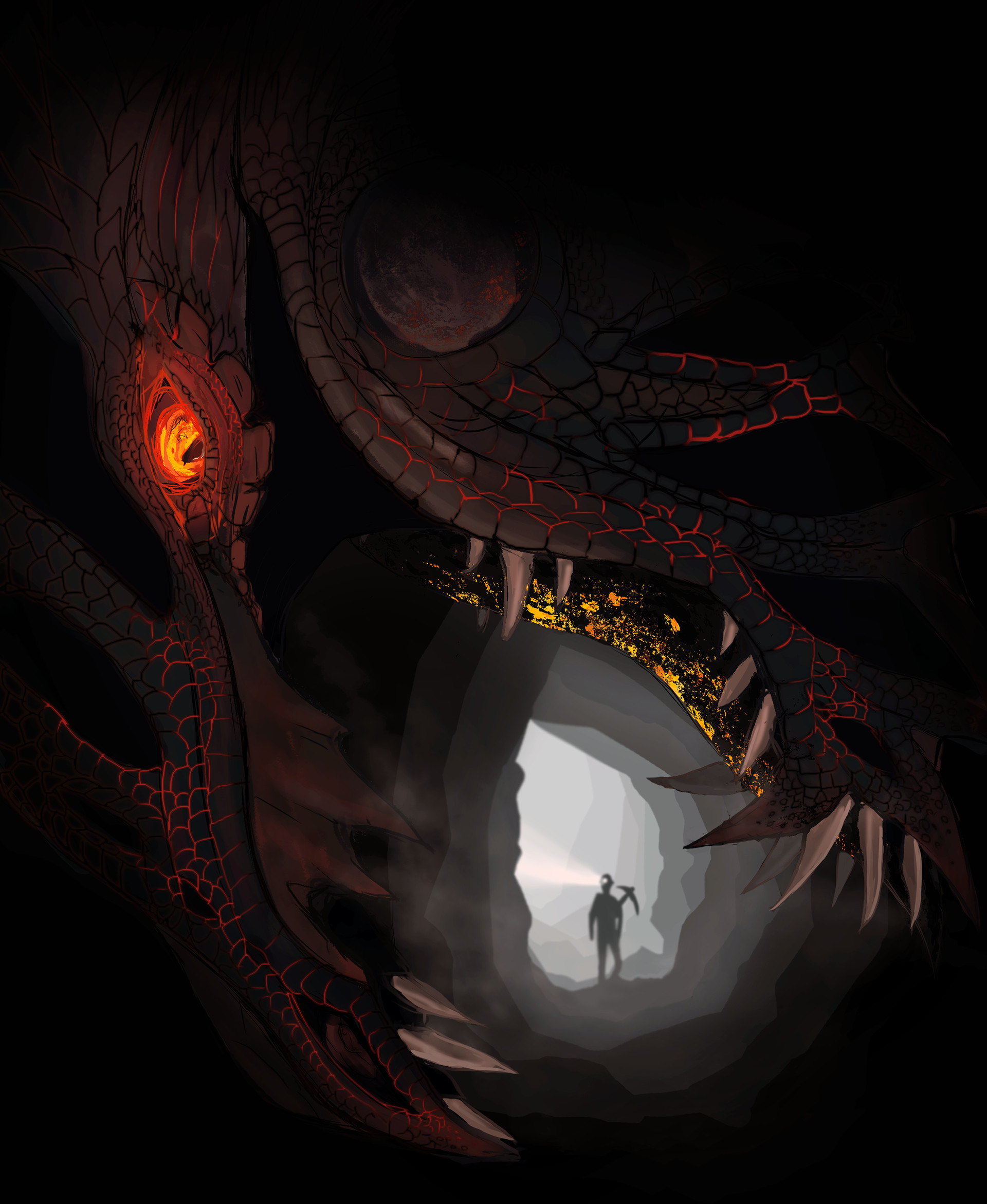 ArtStation - Dungeons and Dragons - Cave Lurker, Julia M  B