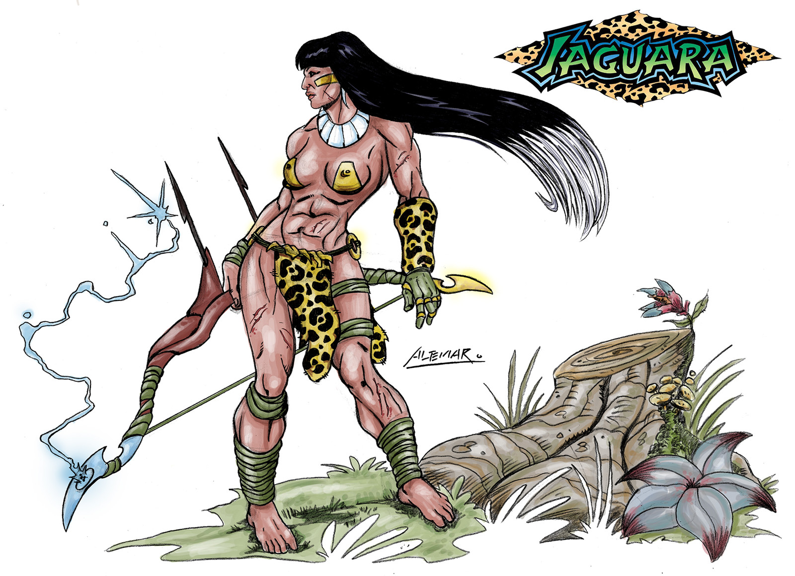 Jaguara - Done to combat with his powerfull bow