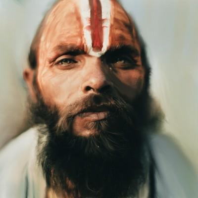 Jon yousef indian digital painting