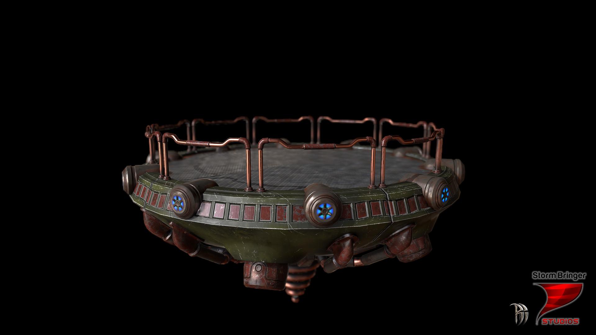 Artstation Steampunk Flying Platform Zviadi Baratashvili