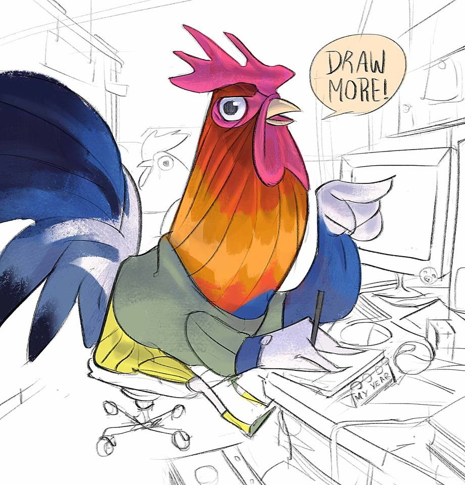 YO! is the Year of the Rooster and also has a message for you :D Happy Chinese New Year folks, bit late but who cares :)