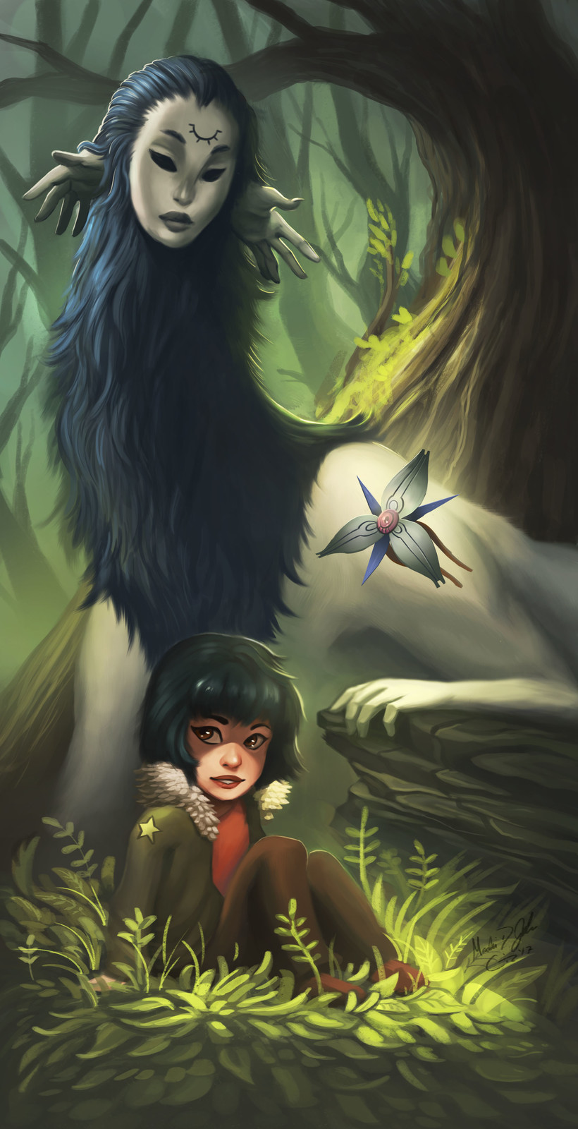 Keeper and the Soldier - Bookmark Illustration