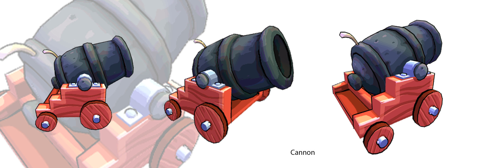 Cannon Model and texture