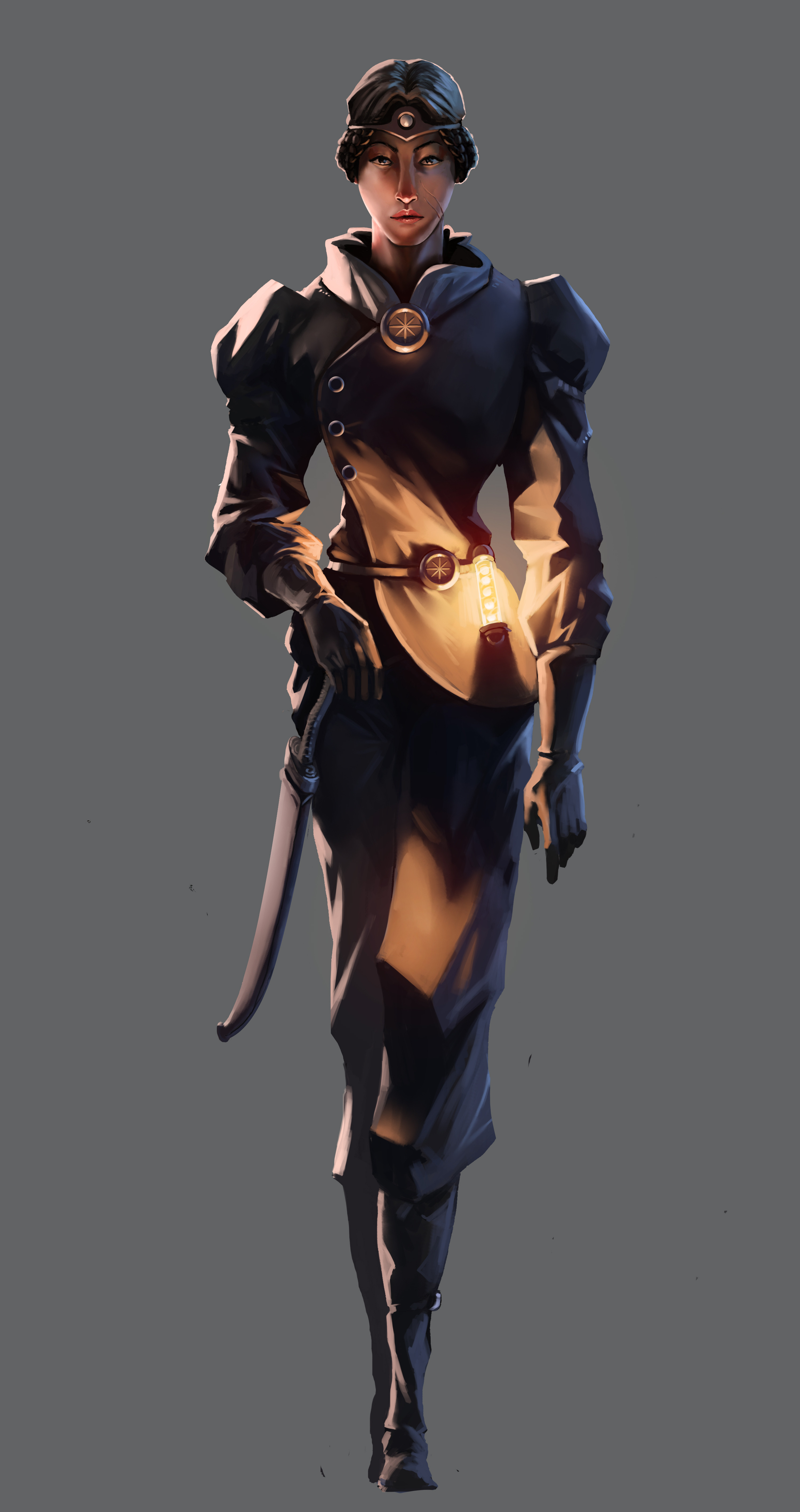 """First Character Class: """"The Calm Warrior"""". She's the one that established the final style for the other characters"""