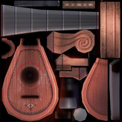 Kristoff Mandolin painted texture
